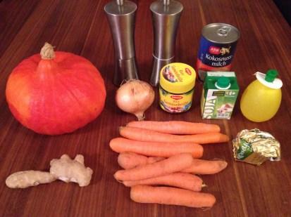 Kürbissuppe mit Ingwer und Kokusnussmilch