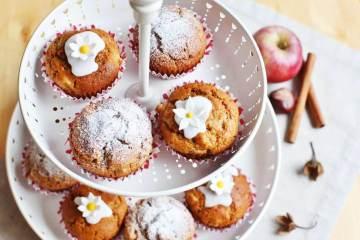 schnelle apfel-muffins