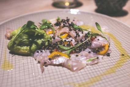 Ceviche vom Bachsaibling mit Quina