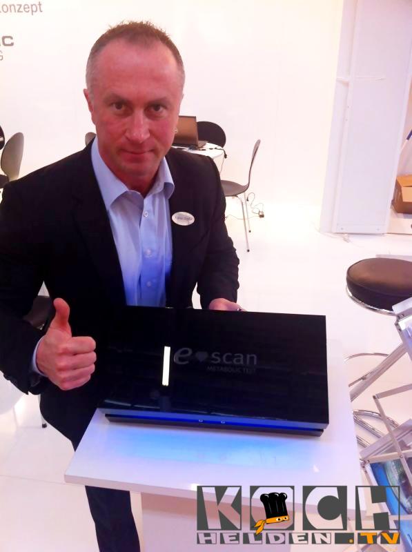 Rainer Goytia am E-scan Stand