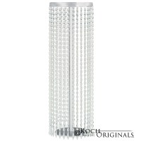 Tabletop Crystal Column - 25'' Tall - Frosted Silver w ...