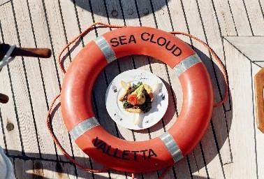 Gourmetreise auf der SY SEA CLOUD mit Geschirr von der Kochschule-Ruhrgebiet