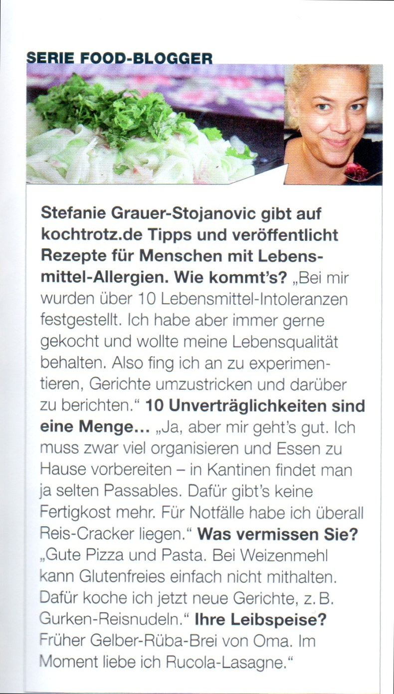 Yeah, ein Interview in der Food & Travel