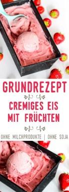Grundrezept cremiges Eis mit Früchten   ohne Milchprodukte   sojafrei   vegan