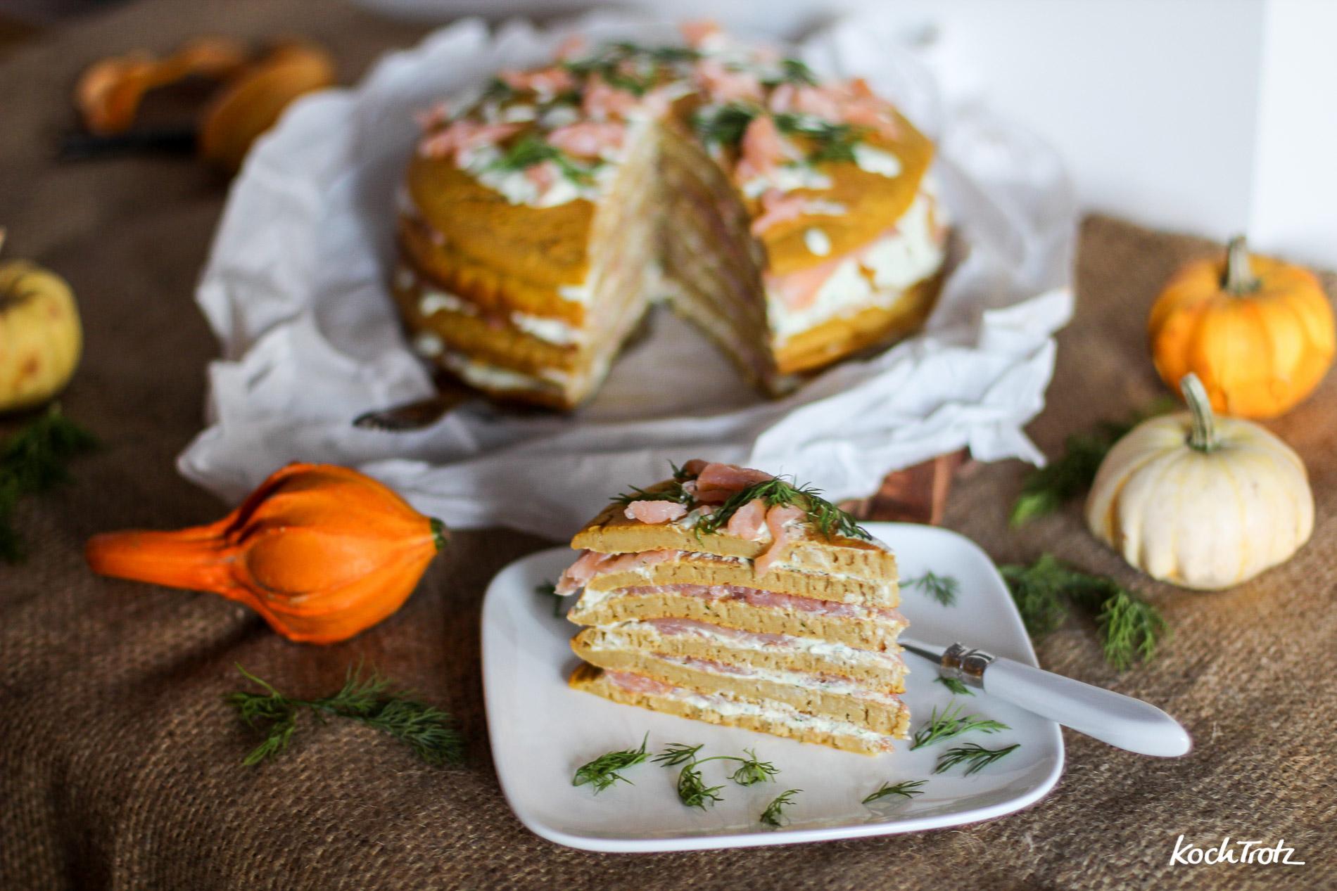 Kürbis-Pancake-Torte