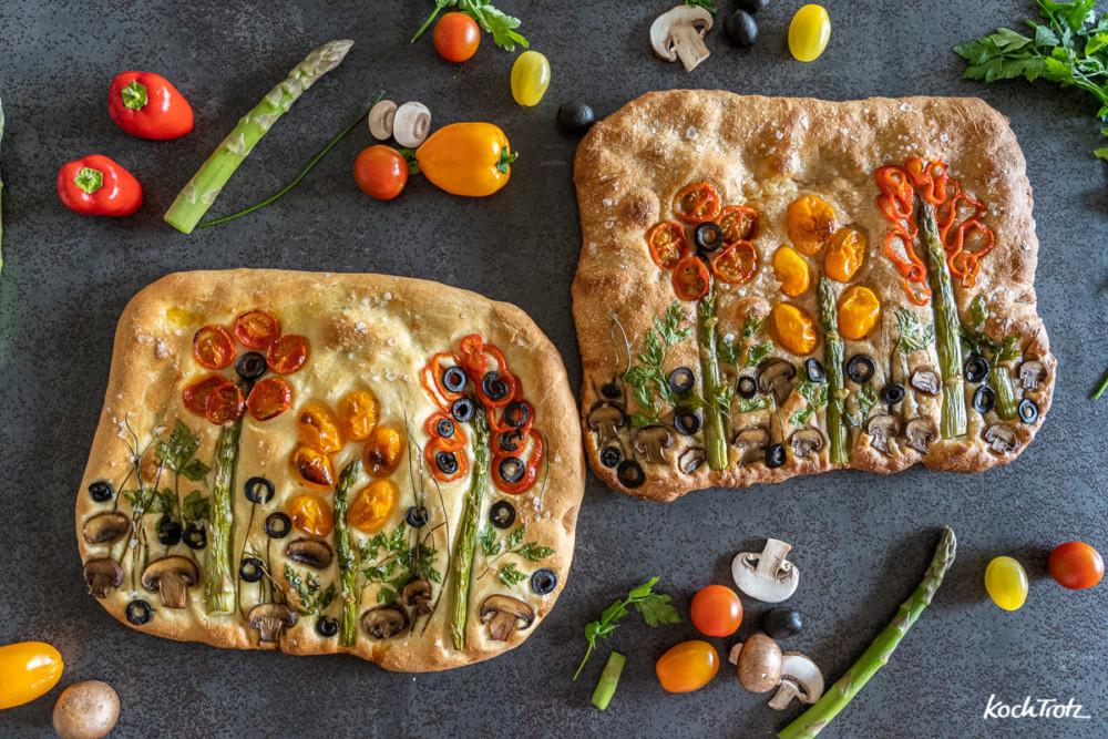 Videoanleitung Brotlandschaft Breadscape Focaccia Garden Auch Glutenfrei Kochtrotz Kreative Rezepte