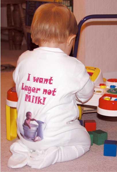 Personalised Baby Sleepsuit