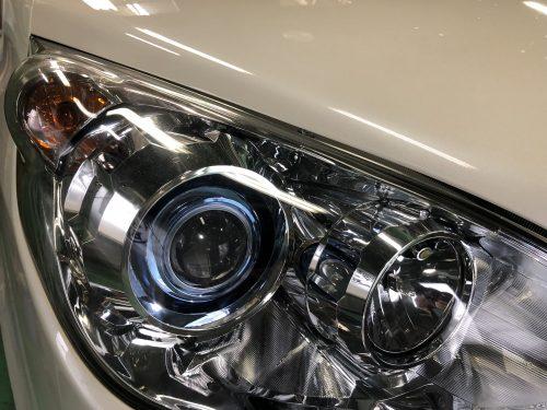 ステップワゴンRG系のヘッドライト磨き