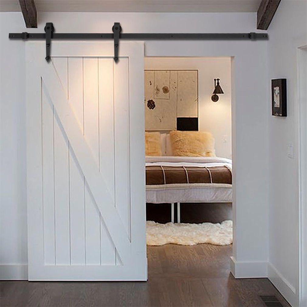 10FT Country Barn Wood Steel Sliding Door Hardware Closet Set Antique Style Home Decor
