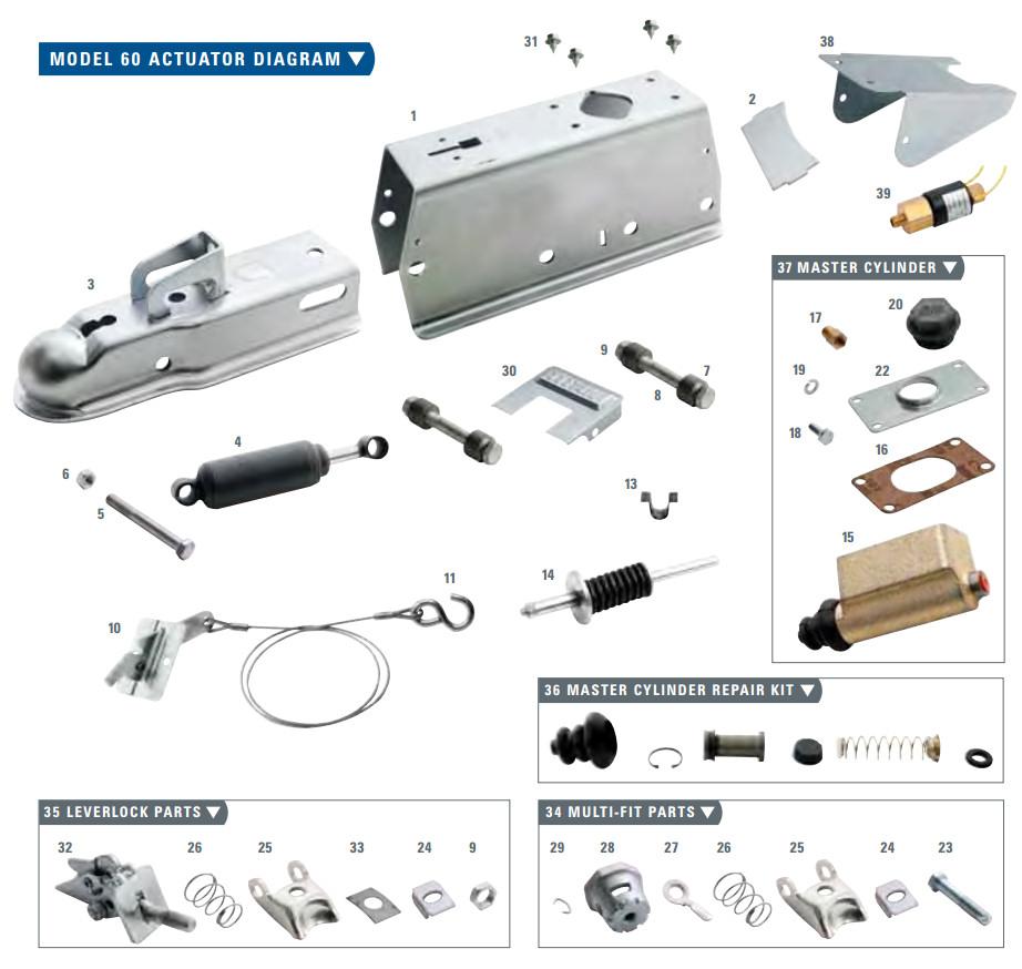 trailer wiring diagram surge brakes