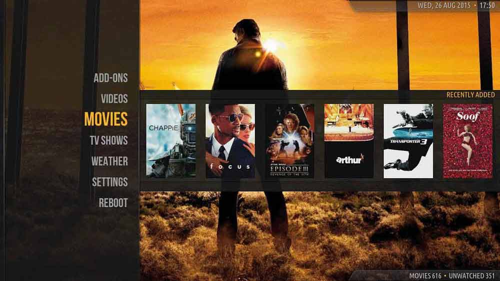 Amber is best kodi skin for streaming tv boxes