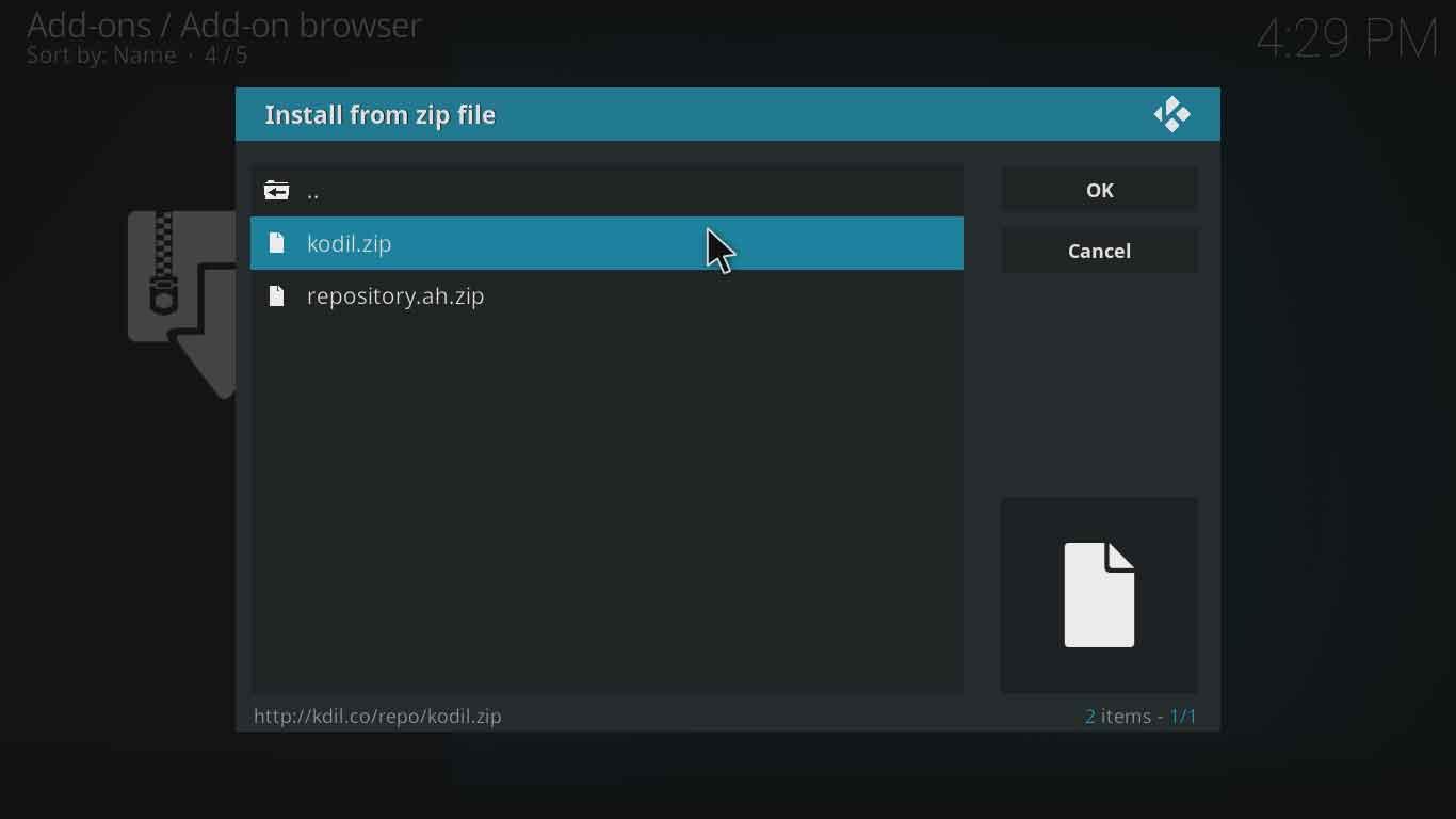 Gurzil on kodi settings