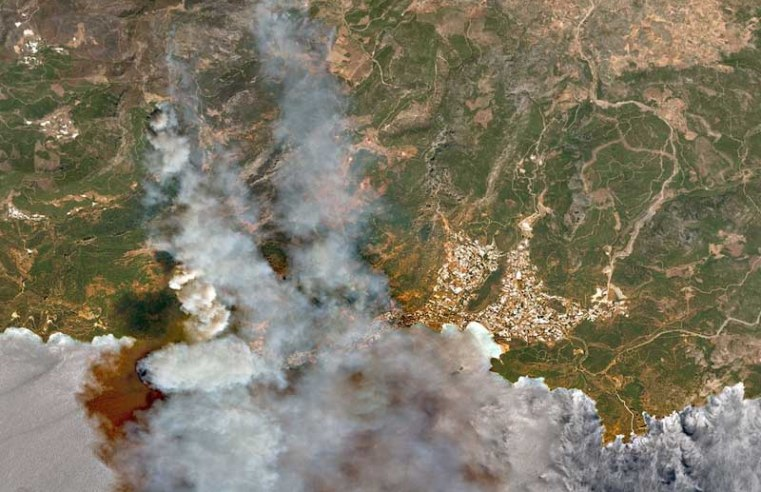 Turkey wildfires: Satellite images show devastation caused by deadly fires, as 'sabotage' can't be ruled out