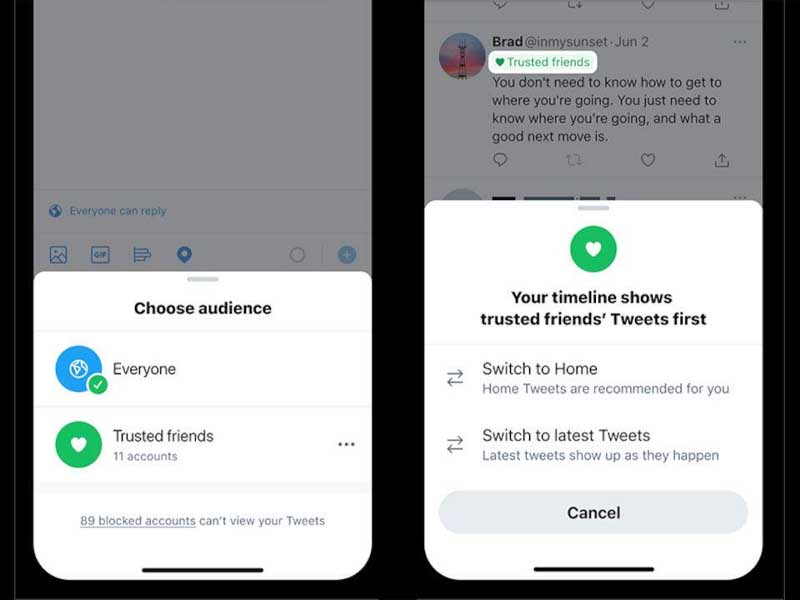 Twitter tests Trusted Friends to limit who can see tweets