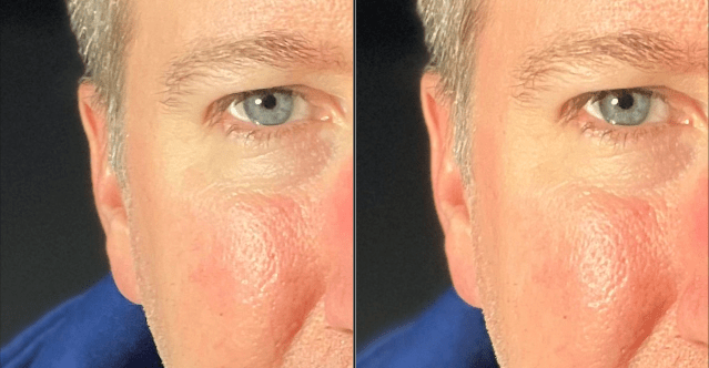Portrait mode (front camera): iPhone 12 (left), iPhone 13 (right)