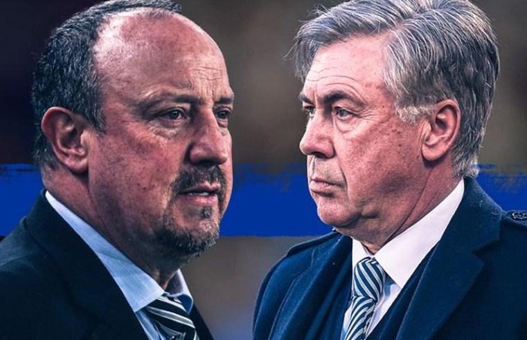 Rafael Benitez can begin to right Carlo Ancelotti failing at Everton next week