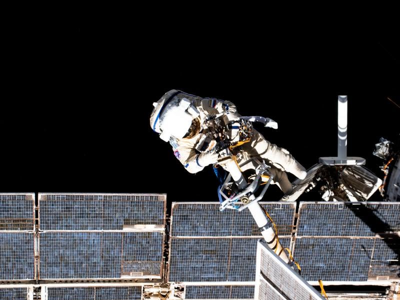 Russian cosmonauts conduct first of 11 spacewalks for new space station module