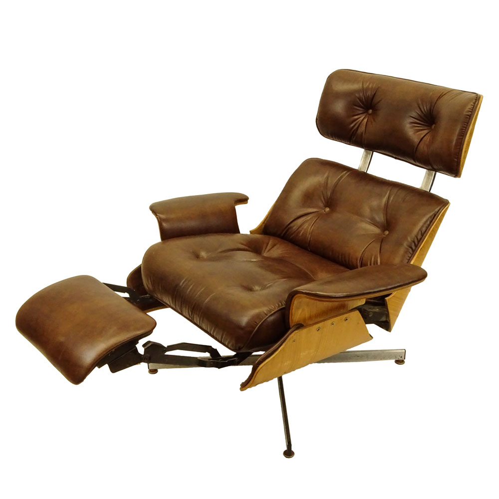 Mid Century Modern Plycraft Eames Style Recliner With