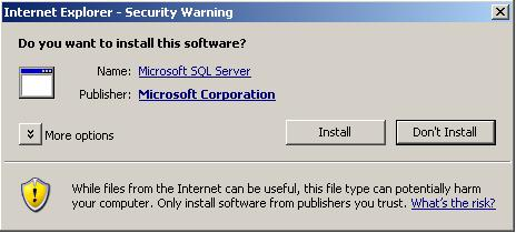 install RS Client Print activex for reporting services print option