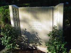 Das Ehrengrab von Heinrich Welsch auf dem Kalker Friedhof, Bild: A.Savin