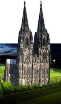 Der Dom würde genug Platz für ein Fußballspiel bieten.