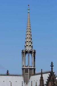 109 Meter hoch und nicht wirklich geliebt: Der Vierungsturm des Kölner Doms, Bild: CEphoto, Uwe Aranas