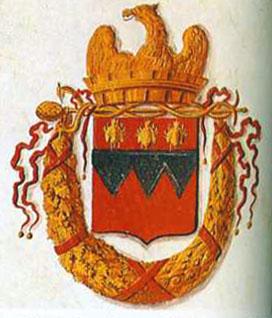 Napoleon verleiht der Stadt ein Wappen mit drei Bienen