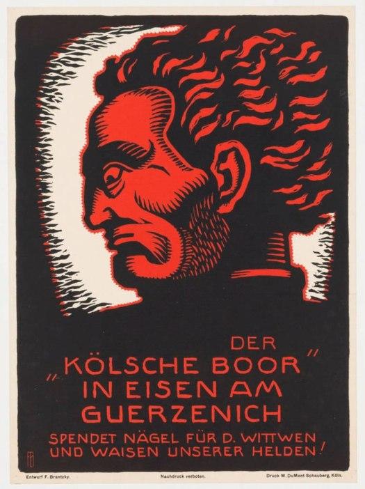 Plakat von Franz Brantzky zum Kölsche Boor