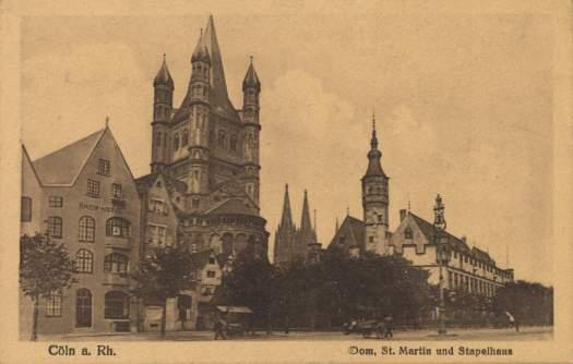 Das Stapelhaus war lange Zeit ein wichtiger Umschlagsplatz für verderbliche Güter, insbesondere Fisch, Postkarte von ca. 1900, Wizico Verlag