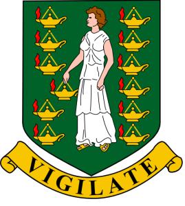 Das Wappen der Britischen Jungferninseln Bild: Tobias Jakobs, CC0, via Wikimedia Commons