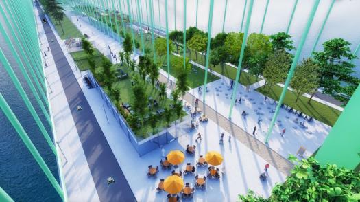 Eine Bücke als Aufenthaltsort mit Biergarten und Spielplatz, Bild: CDU Rodenkirchen