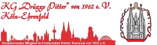 """Logo der KG """"Drügge Pitter"""". Im """"Kranz"""" um den Brunnen erkennt man auch die Worte """"Drügge Pitter"""", Bild: KG Drügge Pitter"""