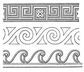 Der Fluss Mäander gab u.a. auch typischen Mustern in der griechischen Kultur seinen Namen. Illustration aus Meyer's Konversationslexikon von 1885-90 http://upload.wikimedia.org/wikipedia/commons/8/8e/Meyers_b11_s0021_b1.png