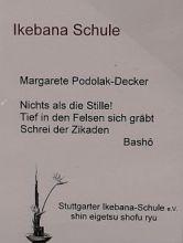 Ikebana Haiku Basho