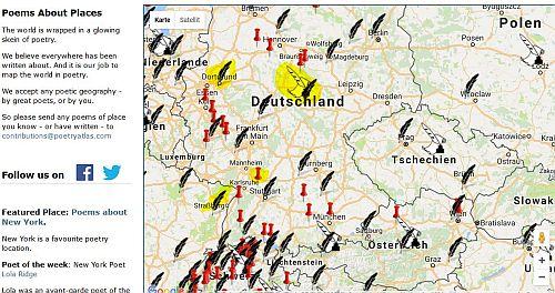 Poetry Atlas Map Karte Orte