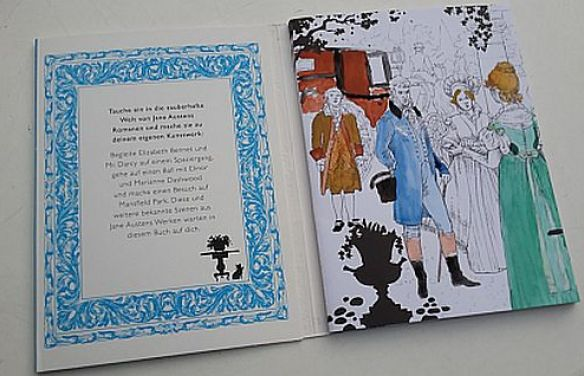 Jane Austen Ausmalbuch Anfang