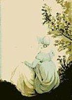 Jane Austen Rükenansicht gezeichnet von Cassandra Austen, Coverbild des Nuces von Rebecca Ehrenwirth und Nina Lieke