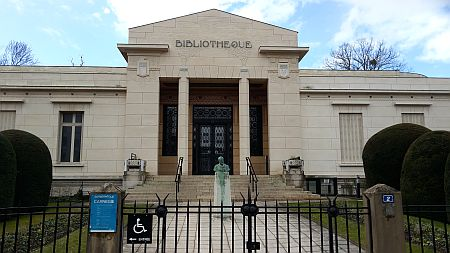 Carnegie-Bibliothek Reims Fassade, Foto: Heike Baller
