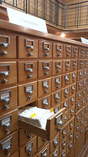 Carnegie-Bibliothek Reims Zettelkatalog Katalograum, Foto: Heike Baller