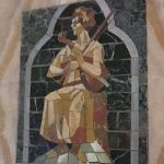 Carnegie-Bibliothek Reims, Eingangsbereich Mosaik Musik Foto: Heike Baller
