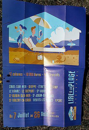 Lesen am Stran Lire à la plage Flyer