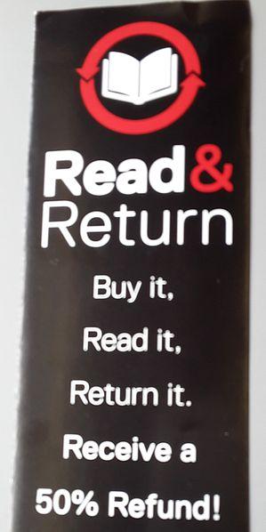 Read & Return Leezeichen Bücher lesen und zurückgeben