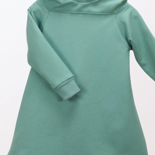 Langarmkleid mit Kapuze und langen Ärmeln, Farbe: Pistazie – Kölner Knirpse