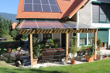 Terrassenüberdachung Mit Photovoltaik Anlage