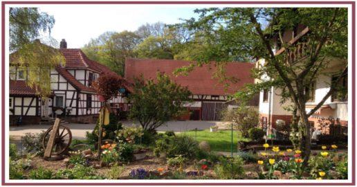 Blick in den Hof der Königsmühle