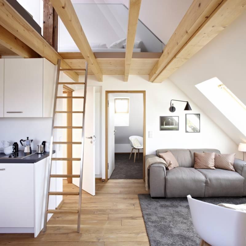 Die groe Dachwohnung mit Galerie  Knigsschlaf
