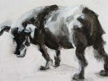 Stray Dog | Acrylic on wooden panel | 70x50 cm