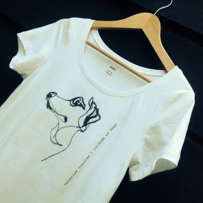 T Shirt Dog drawing