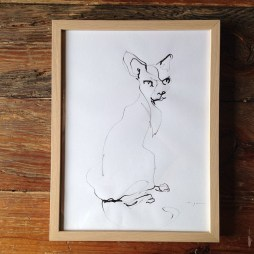 Cat Ink on Paper