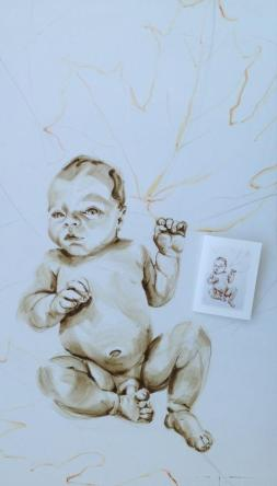 Painting and Birth Announcement Card Mathijs